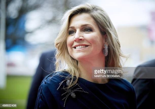 Dutch Queen Maxima attents the closing session of Power on Tour in the Fokker Terminal in The Hague on November 27 2015 Power on Tour is an incentive...