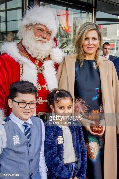 Dutch Queen Maxima poses prior to the Christmas Music Gala 2017 in Ahoy Rotterdam The Netherlands on December 14 2017 / AFP PHOTO / ANP / Robin...