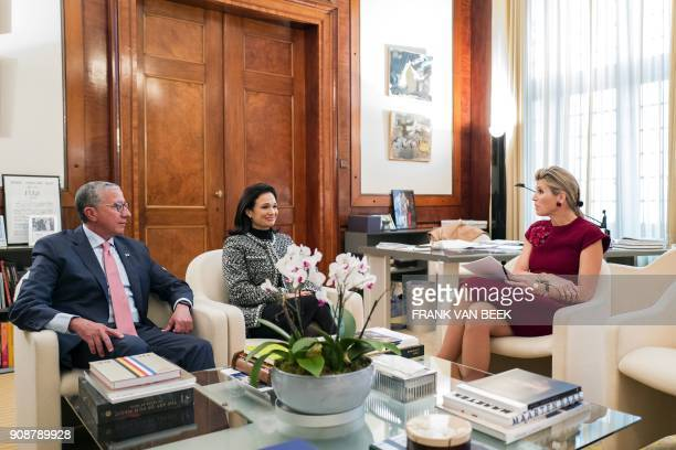 Dutch Queen Maxima receives United Nations Secretary-General's Special Advocate for Inclusive Finance for Development, Panama's Vice President of the...