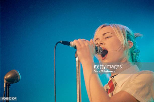 Dutch rock singer Anouk performs at de Flint on February 11th 2000 in Amersfoort, Netherlands.