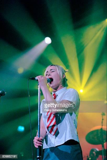 Dutch rock singer Anouk performs at de Flint on February 11th 2000 in Amersfoort, Netherlands.