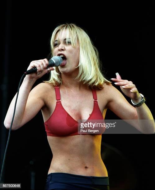 Dutch rock singer Anouk performs at Pinkpop, Landgraaf, Netherlands, 1-6-1998.
