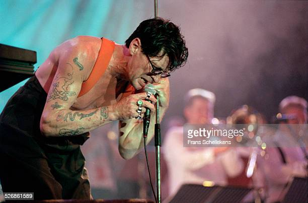 Dutch Rock singer Herman Brood performs on July 16th 1999 at the North Sea Jazz Festival in the Hague Netherlands
