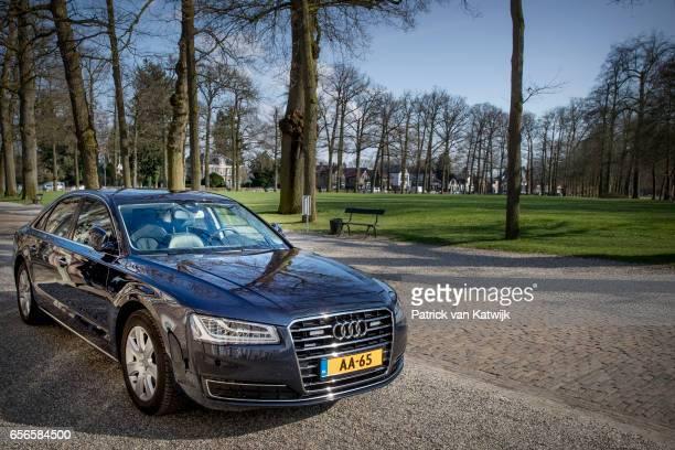 Dutch royal Audi A8 car on March 22 2017 in Apeldoorn Netherlands