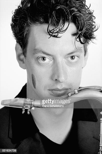 Dutch saxophone player Yuri Honing poses on August 18th 1998 in Amsterdam, Netherlands.