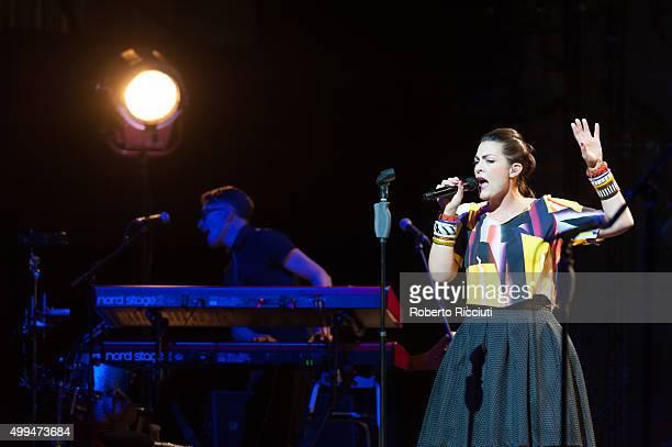 Dutch singer Caro Emerald performs on stage at Usher Hall on December 1, 2015 in Edinburgh, Scotland.