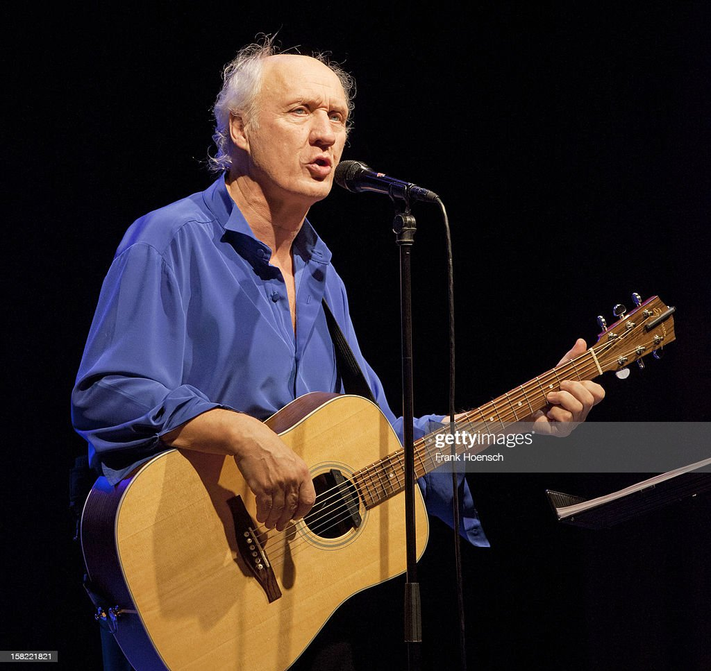 Dutch singer Herman van Veen performs live during a concert at the Admiralspalast on December 11, 2012 in Berlin, Germany.