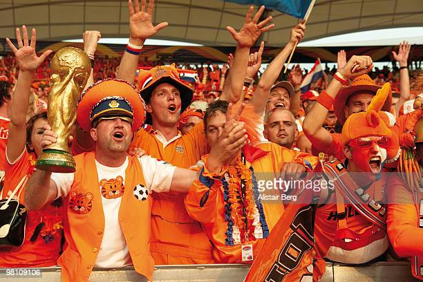 dutch soccer fans - fifa world cup stock pictures, royalty-free photos & images