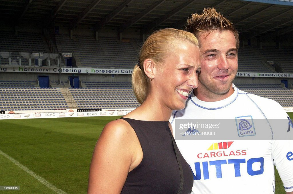 Dutch Soccer Player Theo Janssen Poses In The Stadium Of His New Soccer Team Racing Genk