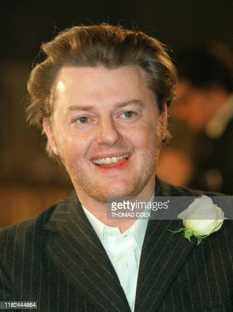 Dutch stylist Josephus Melchior Thimister smiles 19 January following the presentation of his first high fashion Spring/Summer 1998 collection in...