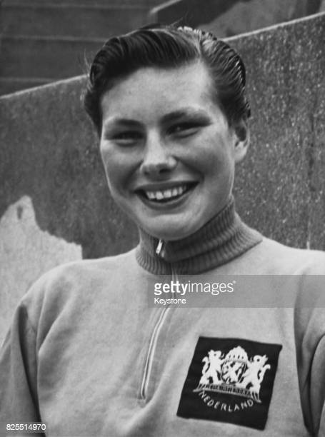 Dutch swimmer Ada Den Haan maintains her breaststroke record over 200 metres in the Paris Grand Prix swimming contest France 14th July 1957