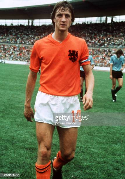 Dutch team captain Johan Cruyff after the preliminary match of group III Netherlands Uruguay during the 1974 FIFA World Cup in Germany on June 15th...
