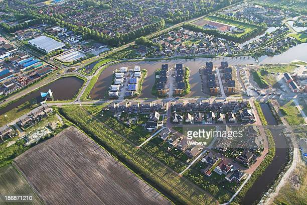 dutch town (joure) - friesland noord holland stockfoto's en -beelden