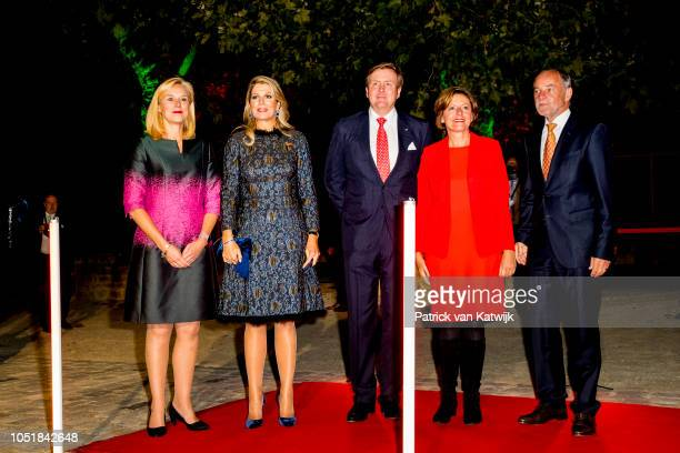 Dutch trade minister Sigrid Kaag, Queen Maxima of The Netherlands, King Willem-Alexander of The Netherlands, Prime Minister Malu Dreyer and her...