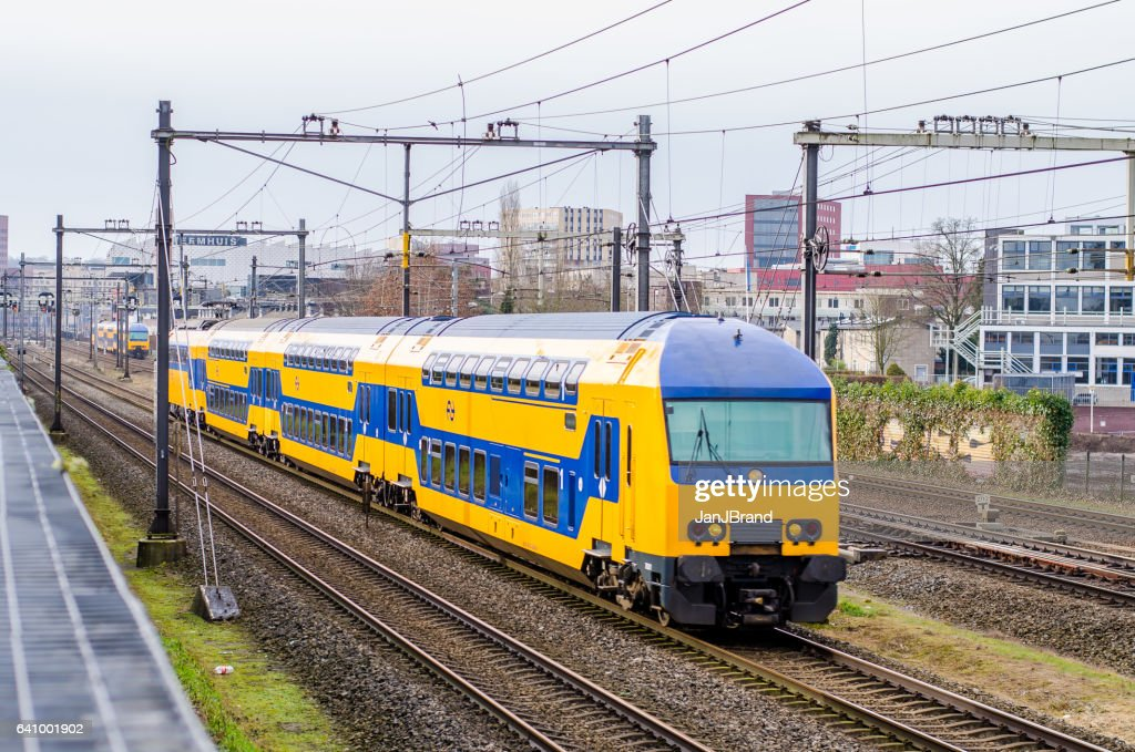 Dutch train at Amersfoort : Stock Photo