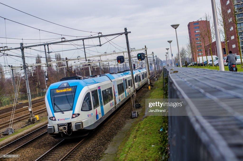 Niederländische Bahn in Amersfoort : Stock-Foto