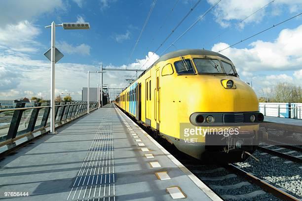 Dutch train at railway station