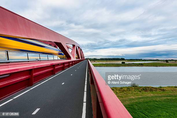 Dutch Train Crossing The IJssel River