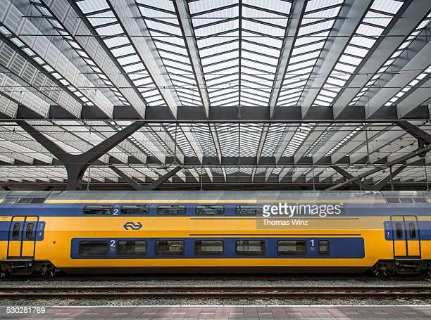 Dutch train in a train station