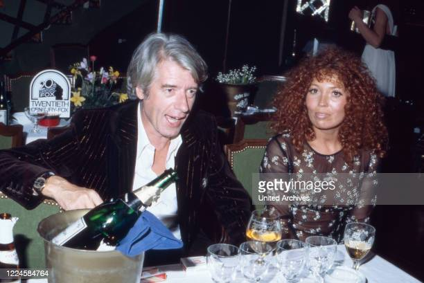 Dutch TV entertainer Rudi Carrell with his wife Anke Germany 1970s