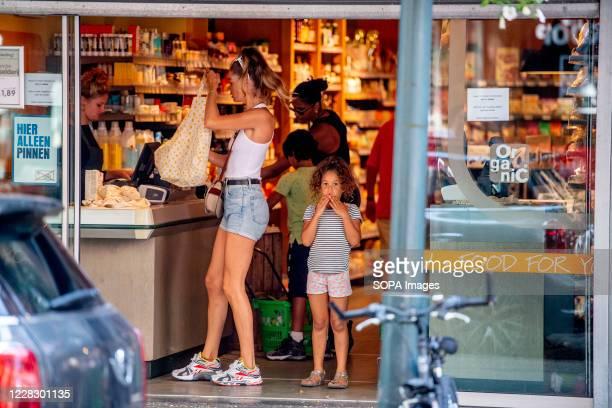 Dutch Victoria secret model Doutzen Kroes seen shopping with her children Myllena and Phyllon during the coronavirus crisis.