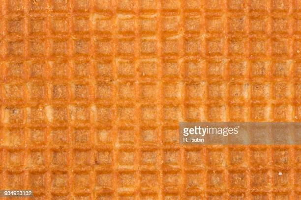 dutch waffle closeup - waffle stock photos and pictures