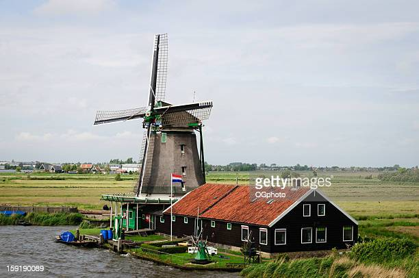 dutch windmill - ogphoto stock pictures, royalty-free photos & images