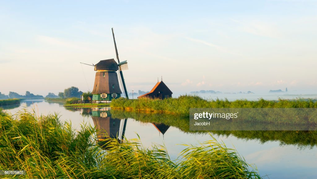 Dutch Windmill : Stock Photo