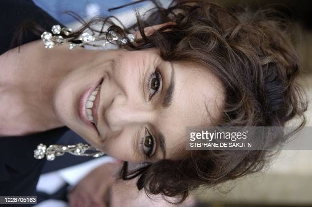 Dutchborn actress Maruschka Detmers poses for the photographer at the Palais Royal during the Meetings for Europe and culture which gathered 800...