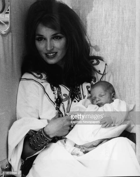 Dutchborn former actress Talitha Pol the second wife of oil heir John Paul Getty Jr holds her threeweekold son Tara Gabriel Galaxy Gramophone Getty...