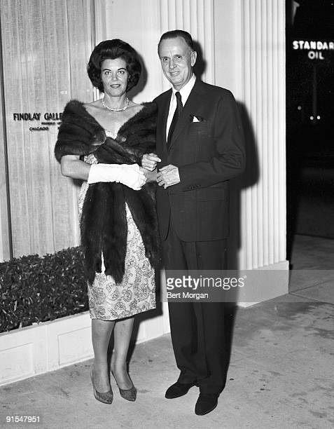 Dutch-born Swiss Baron Hans Heinrich von Thyssen-Bornemisza poses with his wife, former model Fiona Campbell-Walter outside the Vicente Viudes show...