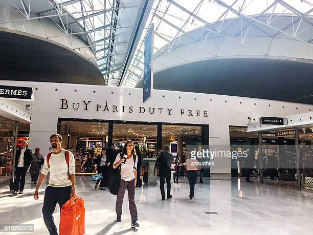 Duty free shop at Roissy airport, Paris, France