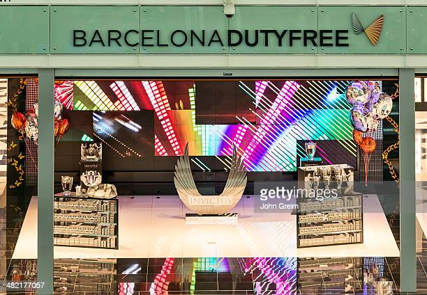 Duty free shop at the Barcelona airport