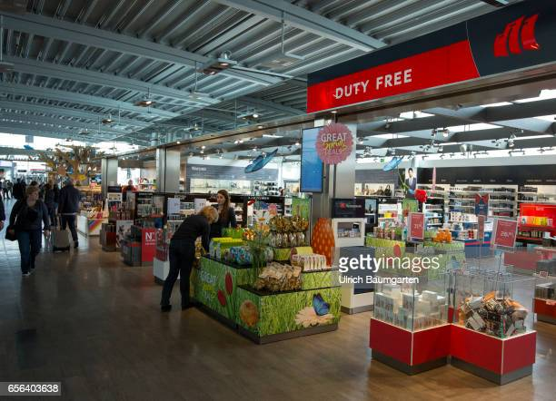 Duty Free Shop on the departure level of the airport Cologne/Bonn
