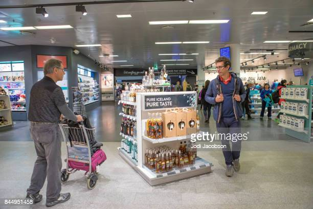 Duty free shopping is available while waiting for departing flights at Keflavik International Airport, Iceland