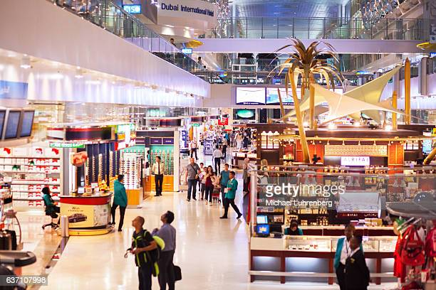 Duty free stores in new terminal of airport Dubai