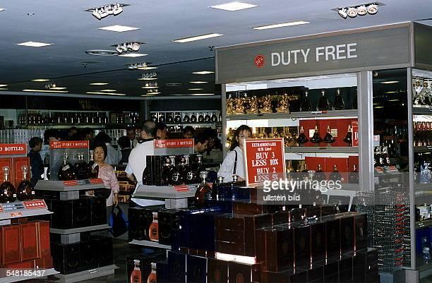 DutyFreeShop im Changi Airport in Singapur 1997