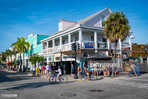 duval and green streets in key west, florida - duval street stock pictures, royalty-free photos & images
