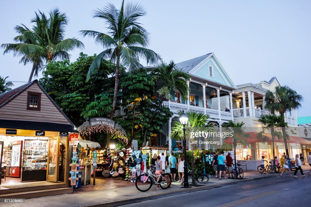 Duval Street at night. : News Photo
