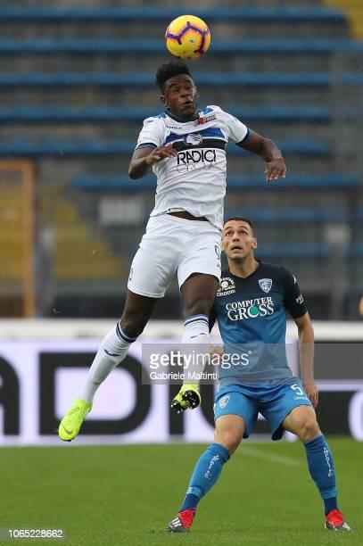 Duvan Zapata of Atalanta BC in action during the Serie A match between Empoli and Atalanta BC at Stadio Carlo Castellani on November 25 2018 in...