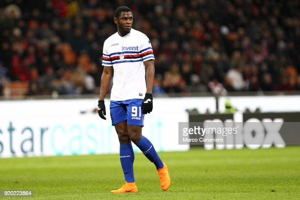 Duvan Zapata of UC Sampdoria during the Serie A football match between Ac Milan and Uc Sampdoria Ac Milan wins 10 over Uc Sampdoria