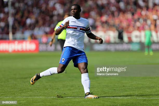 Duvan Zapata of UC Sampdoria in action during the Serie A football match between Torino Fc and Uc Sampdoria