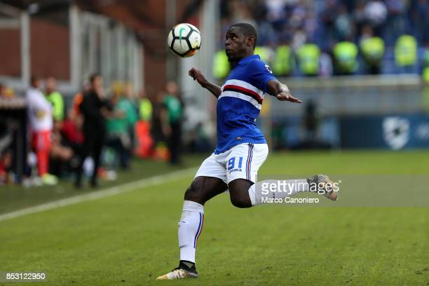 Duvan Zapata of UC Sampdoria in action during the Serie A football match between Us Sampdoria and Ac Milan Uc Sampdoria wins 20 over Ac Milan