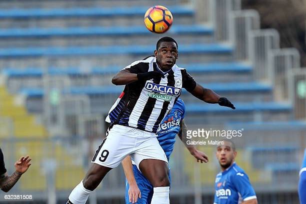 Duvan Zapata of Udinese Calcio in action during the Serie A match between Empoli FC and Udinese Calcio at Stadio Carlo Castellani on January 22 2017...