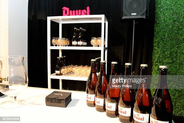 Duvel beverages and barware are displayed at Hollywood Gala celebrating Capitol Records 75th Anniversary on November 15 2016 in Los Angeles California