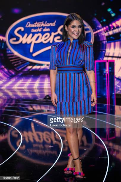Duygu Goenel poses after the second event show of the tv competition 'Deutschland sucht den Superstar' at Coloneum on April 15 2017 in Cologne...
