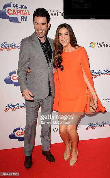 Dve Berry and Lisa Snowdon attend day one of Jingle Bell Ball at O2 Arena on December 3 2011 in London England