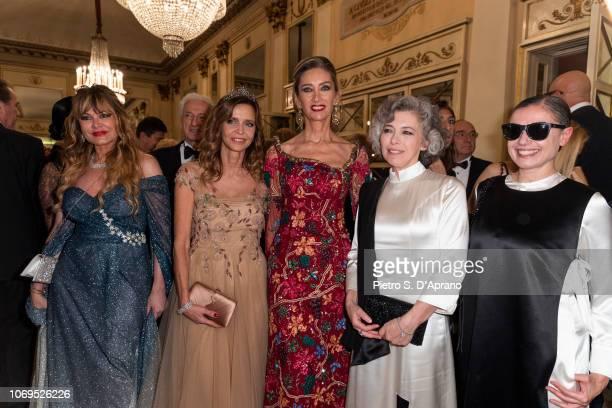 Dvora Ancona Eliana Miglio Laura Morino and Irene Pivetti attend the Prima Alla Scala at Teatro Alla Scala on December 7 2018 in Milan Italy