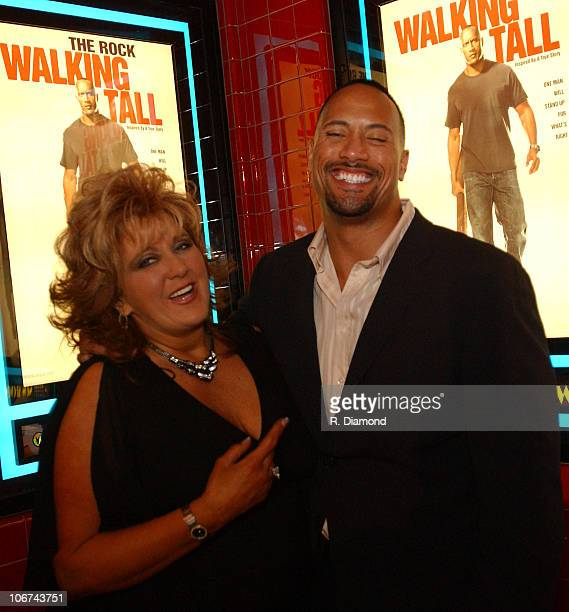 Dwana Pusser and Dwayne The Rock Johnson during Walking Tall screening in Nashville at Regal Oprey Mills 20 in Nashville Tennessee United States