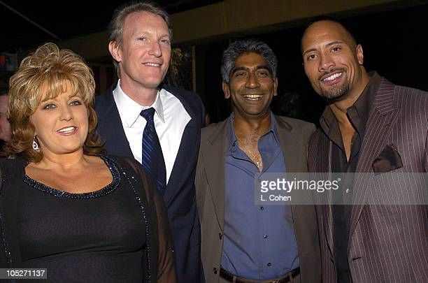 Dwana Pusser daughter of Buford Pusser Chris McGurk MGM Chief Operating Officer Ashok Amritraj producer and Dwayne The Rock Johnson